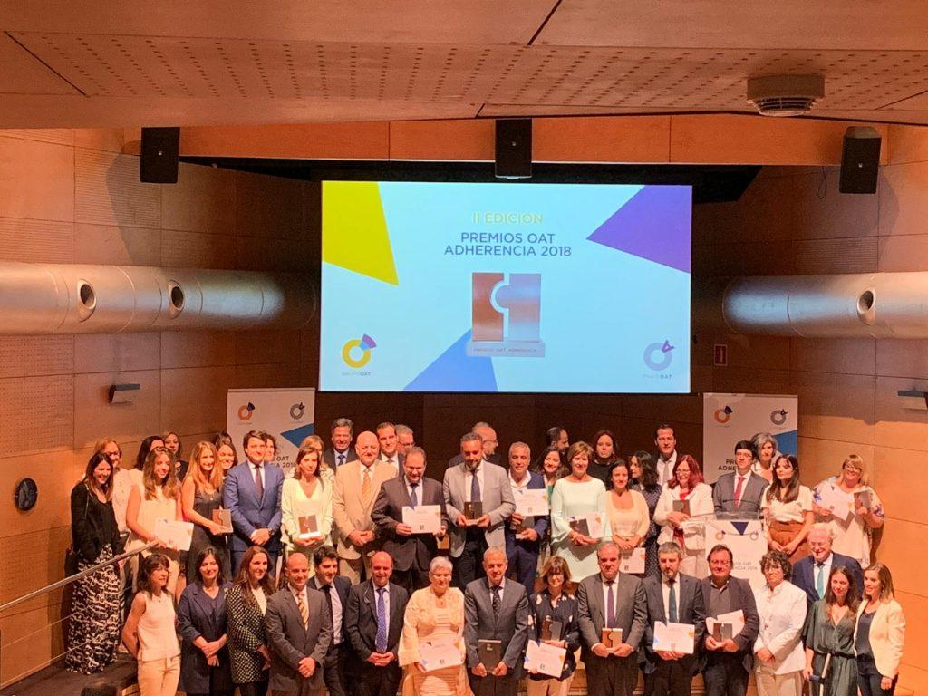 Acto de entrega II Edición Premios OAT Adherencia 2018 (ganadores y finalistas)